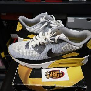 Nike Air Max 90 size 11.5 grey yellow